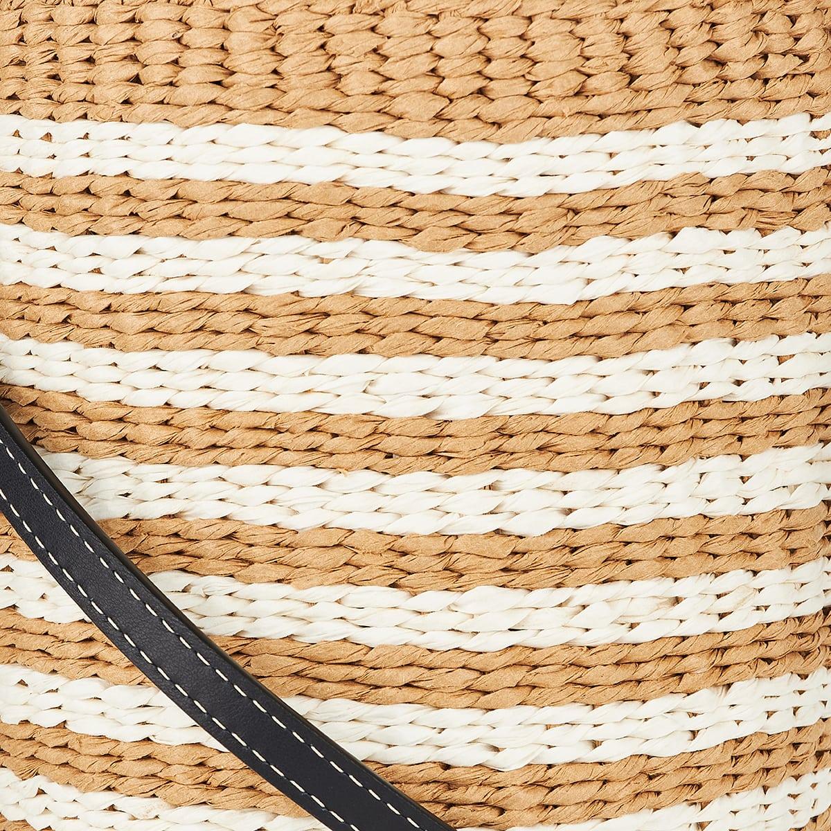 Woody small paper basket bag