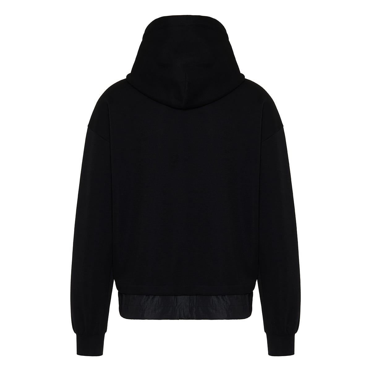DG nylon-trimmed cotton hoodie