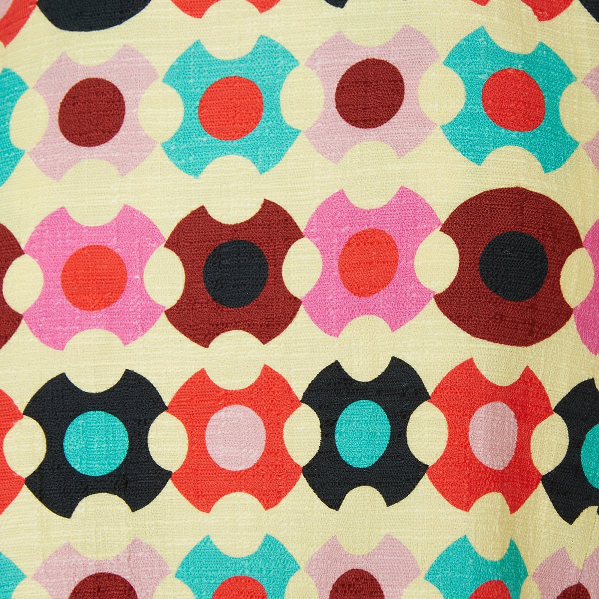 La Scala printed cotton top