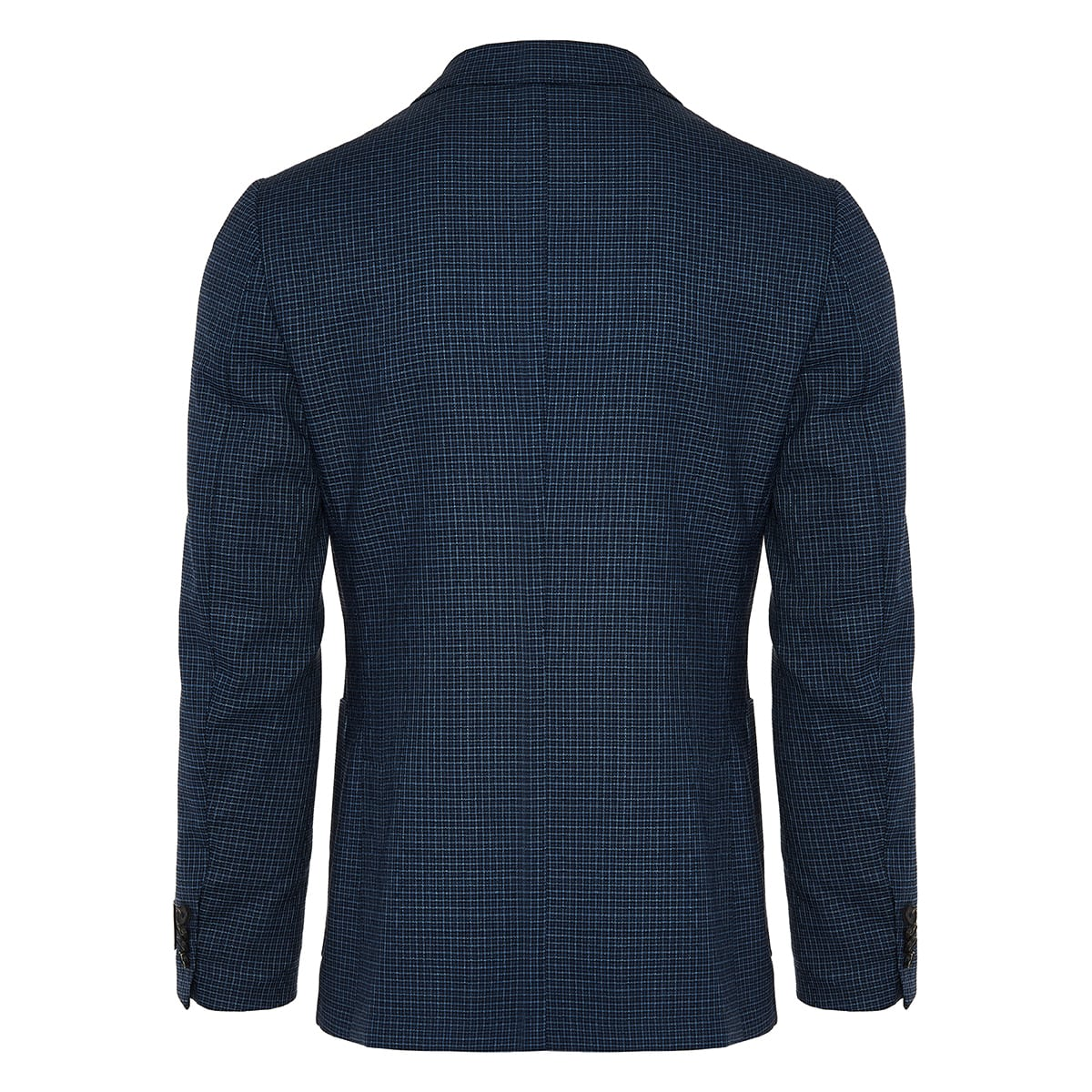 Single-breasted checked wool blazer