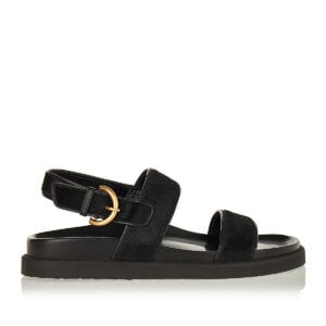 Bilbao calf-hair and leather sandals