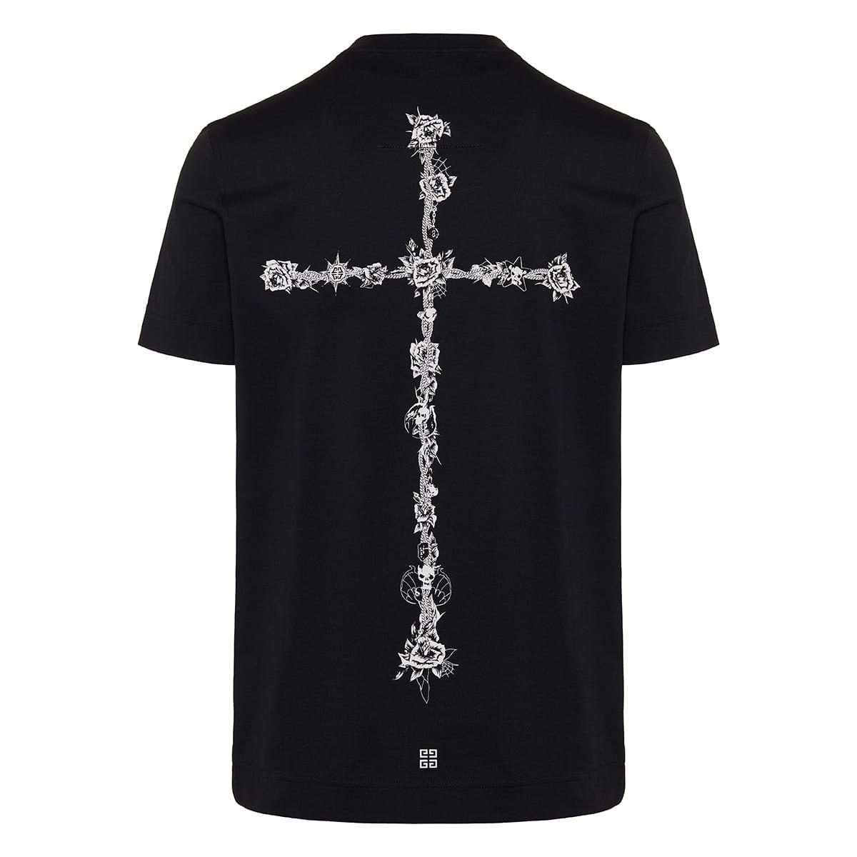 Cross-print logo jersey t-shirt