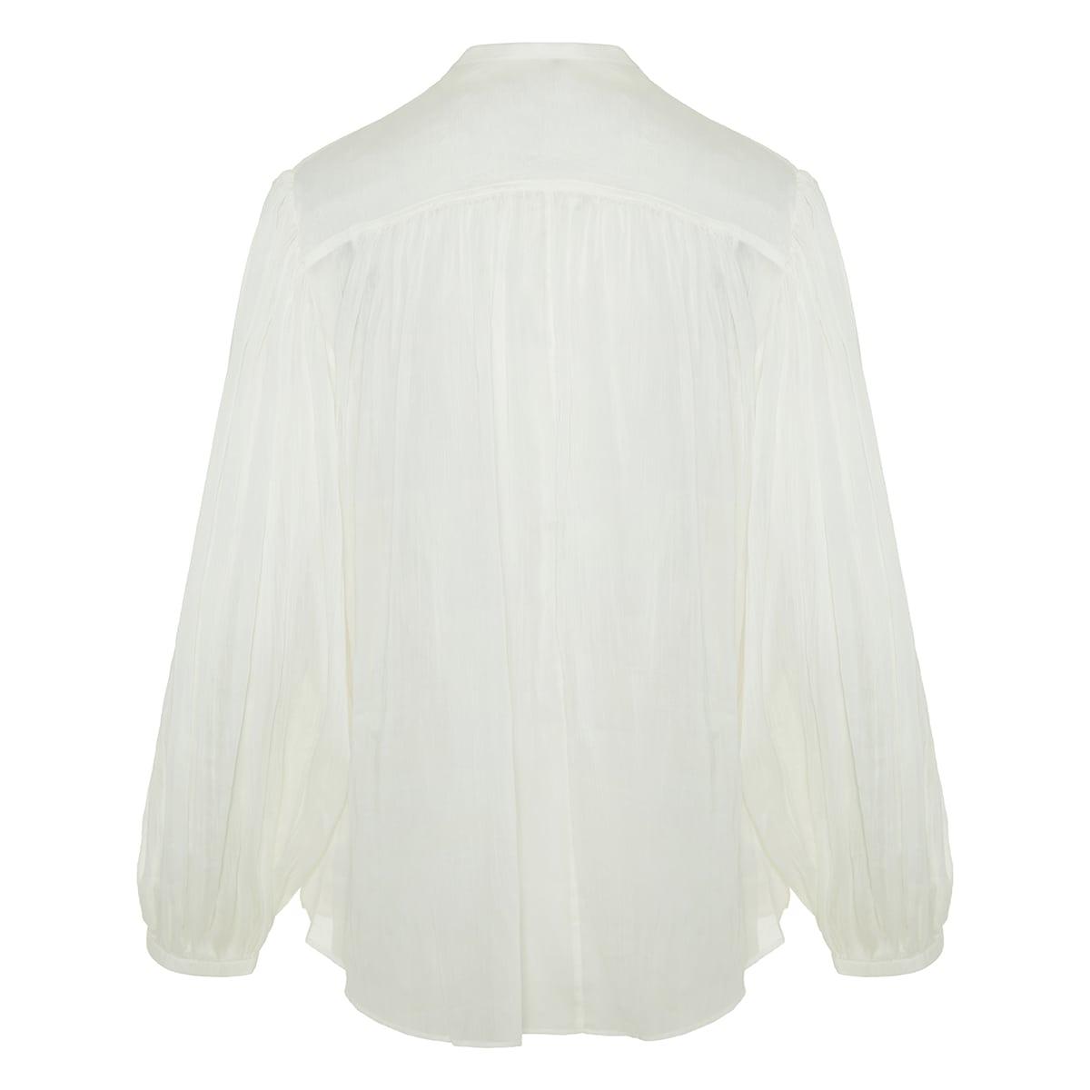Kiledia balloon-sleeved gathered shirt