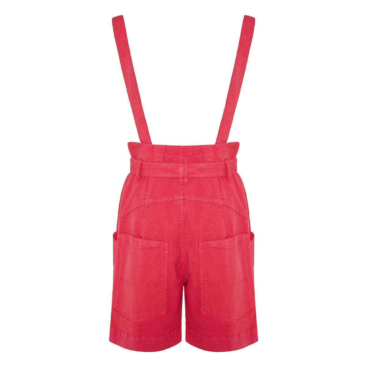 Effie dungaree shorts