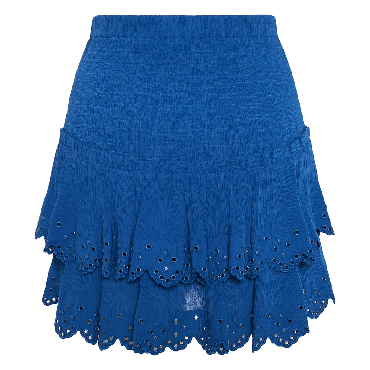Landora studded tiered mini skirt