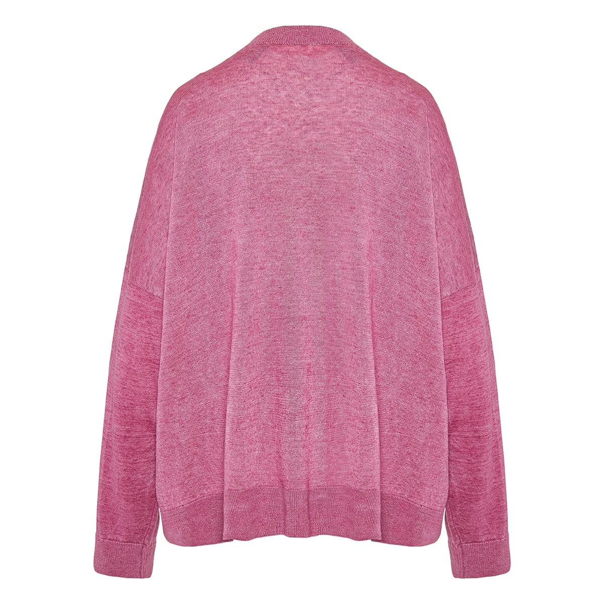 Logo jacquard linen sweater