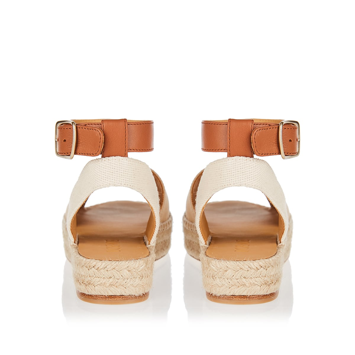 Anagram canvas and leather sandals