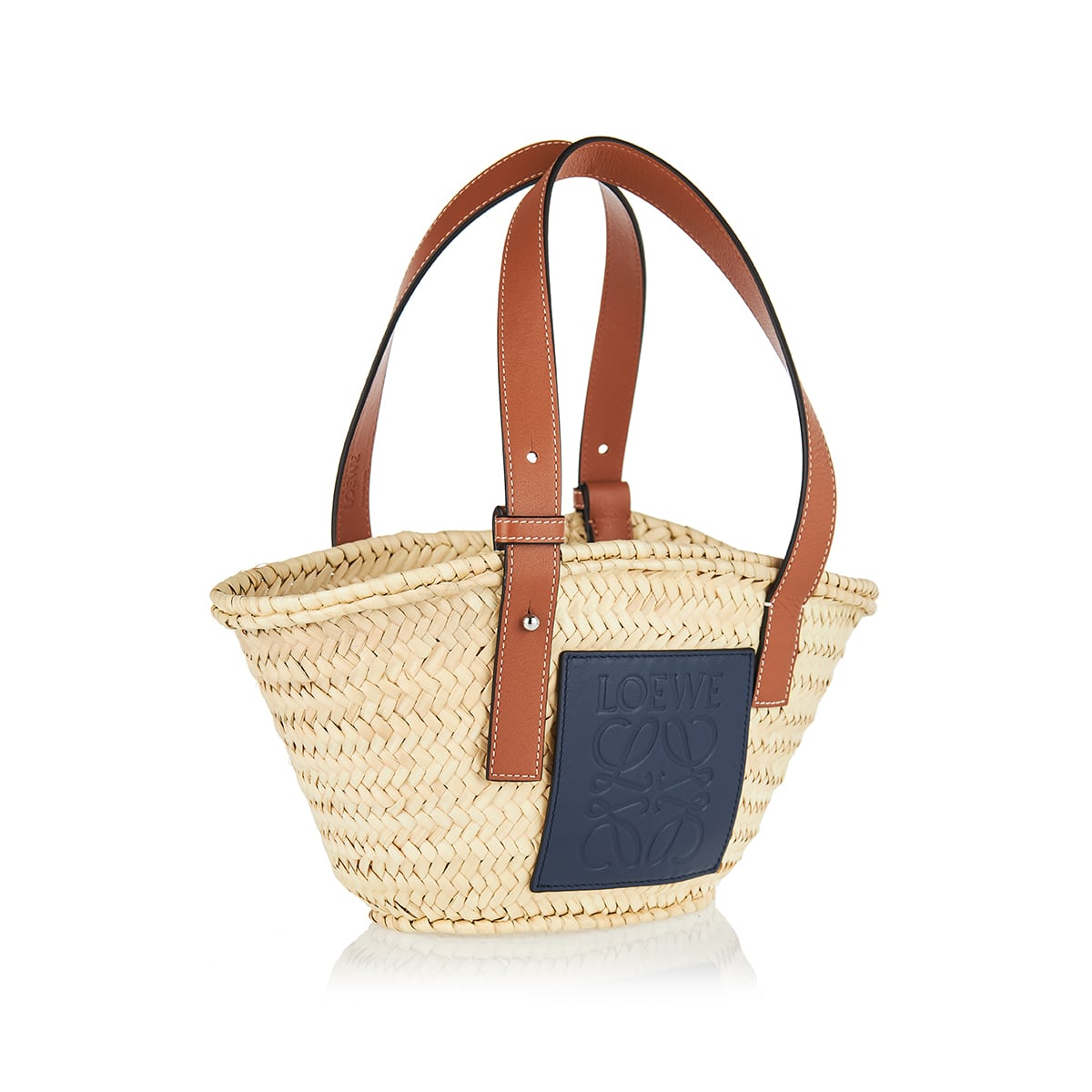 Small raffia basket bag