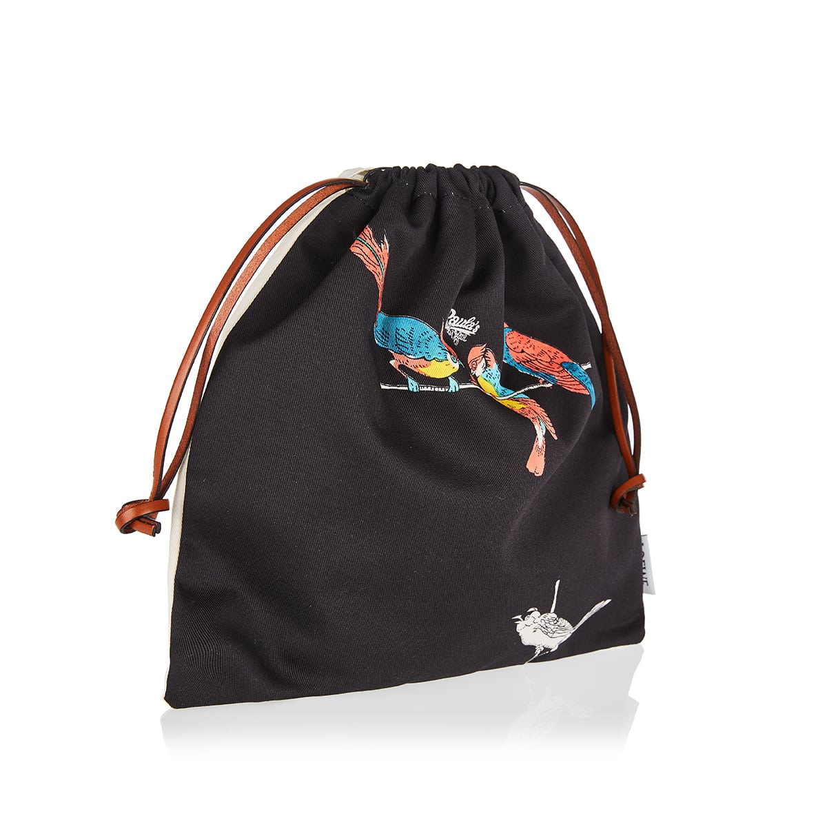 Parrot small printed canvas pouch