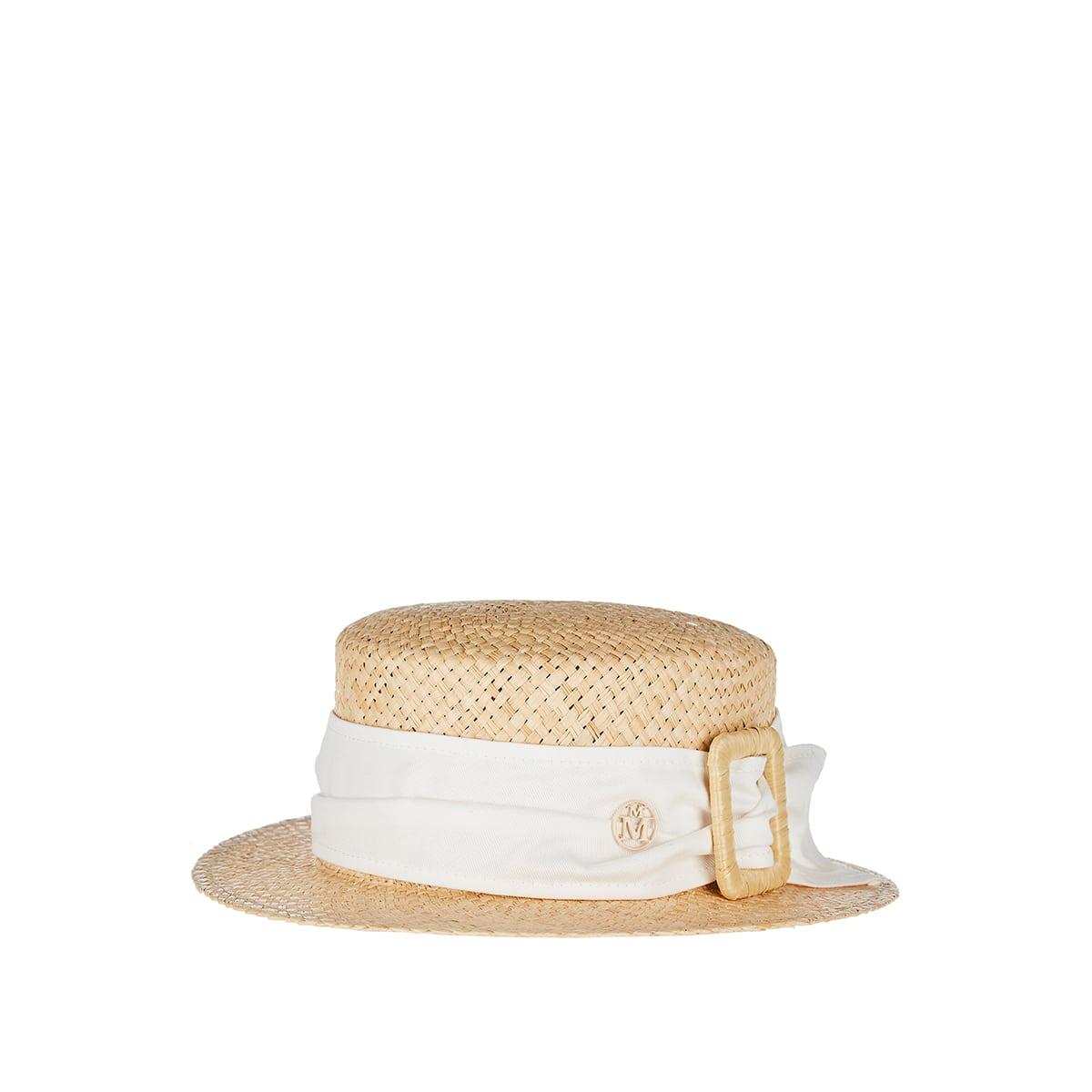 Auguste raffia canotier hat