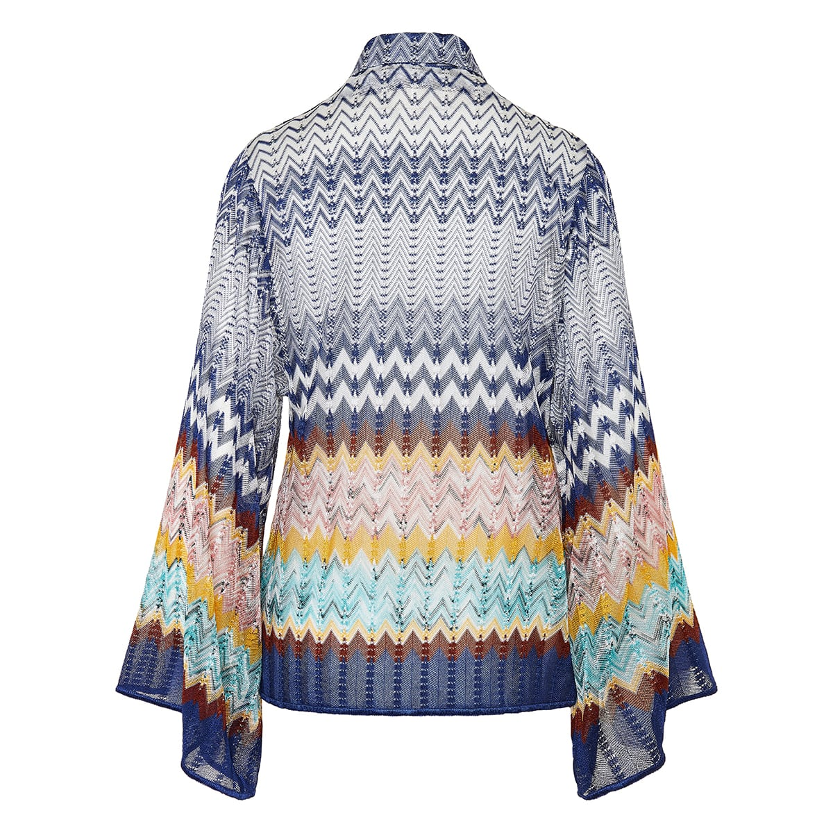 Patterned-knit shirt