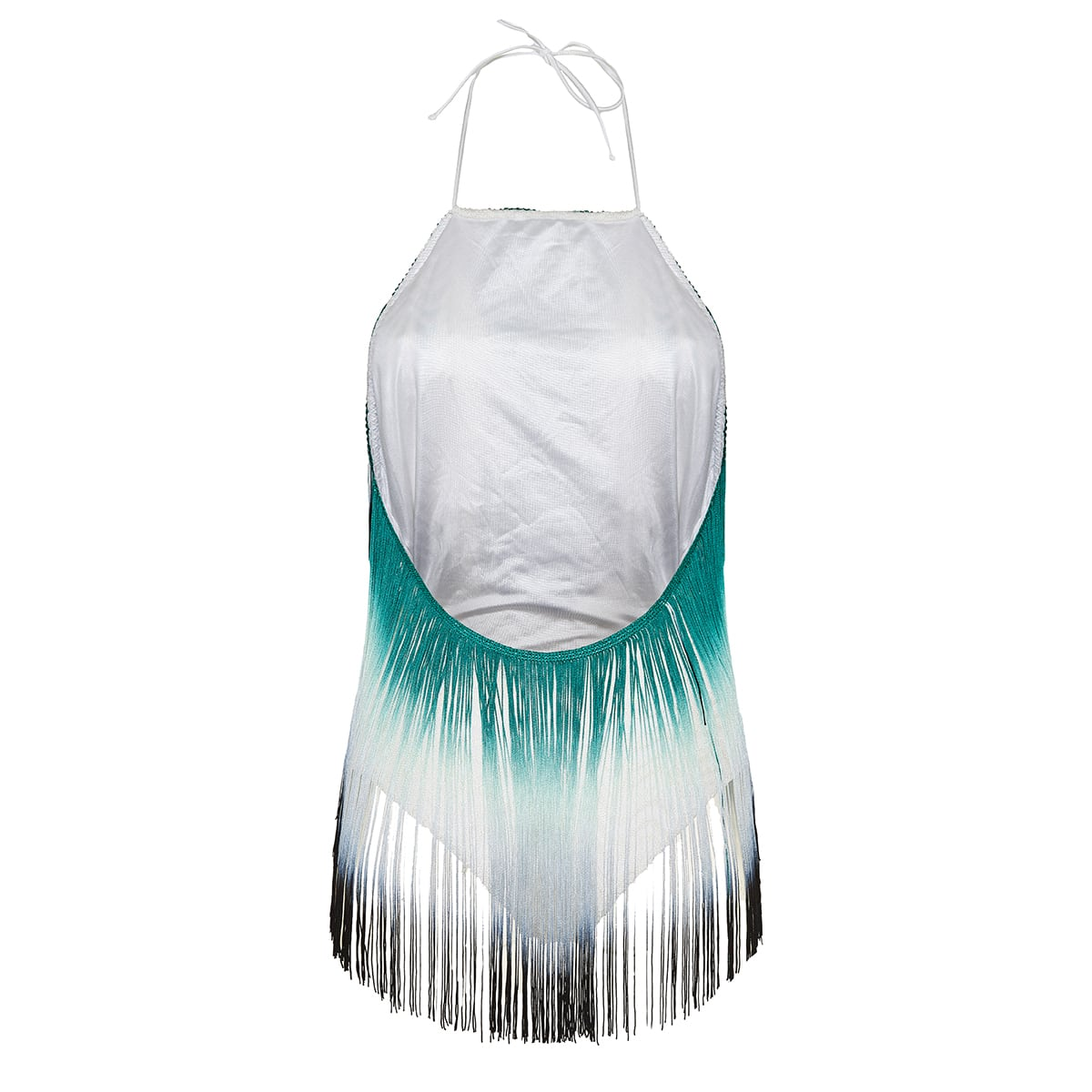 Fringed knitted swimsuit