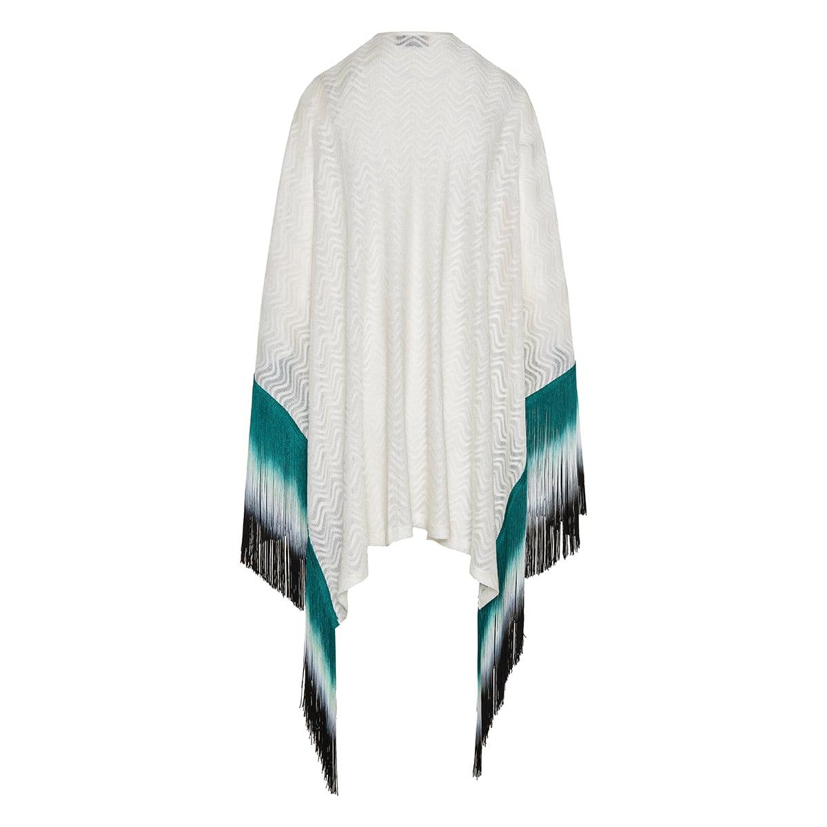 Fringe knitted cape