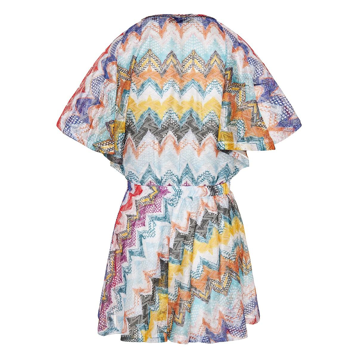 Chevron-knit mini dress