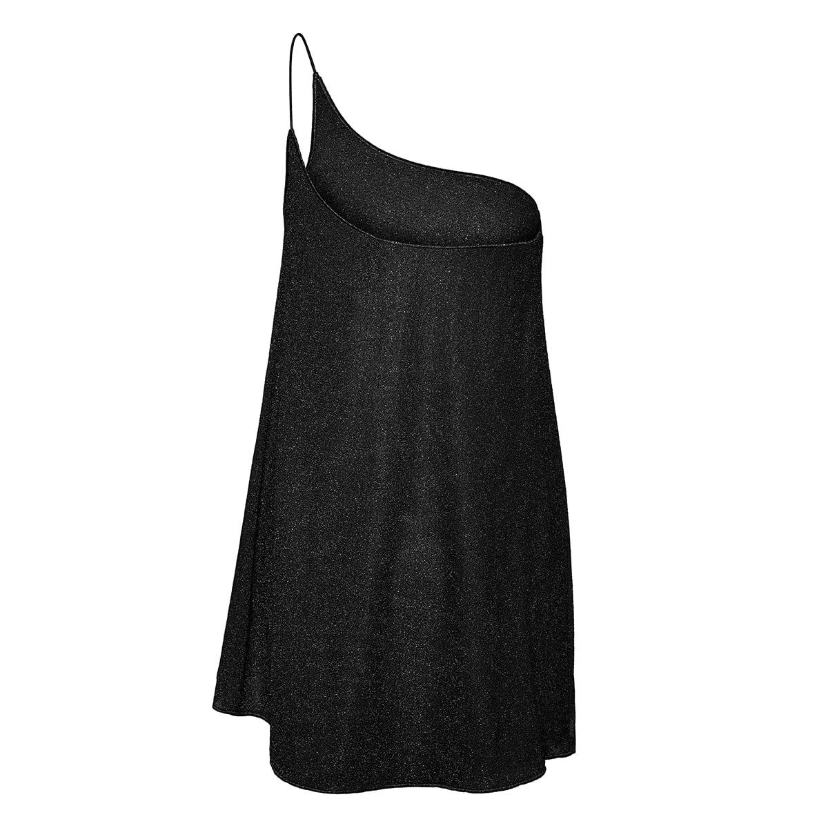 Lumière one-shoulder lurex mini dress