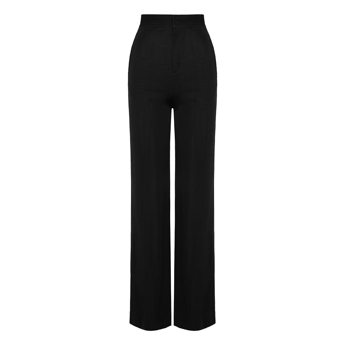 Studio wide-leg jersey trousers