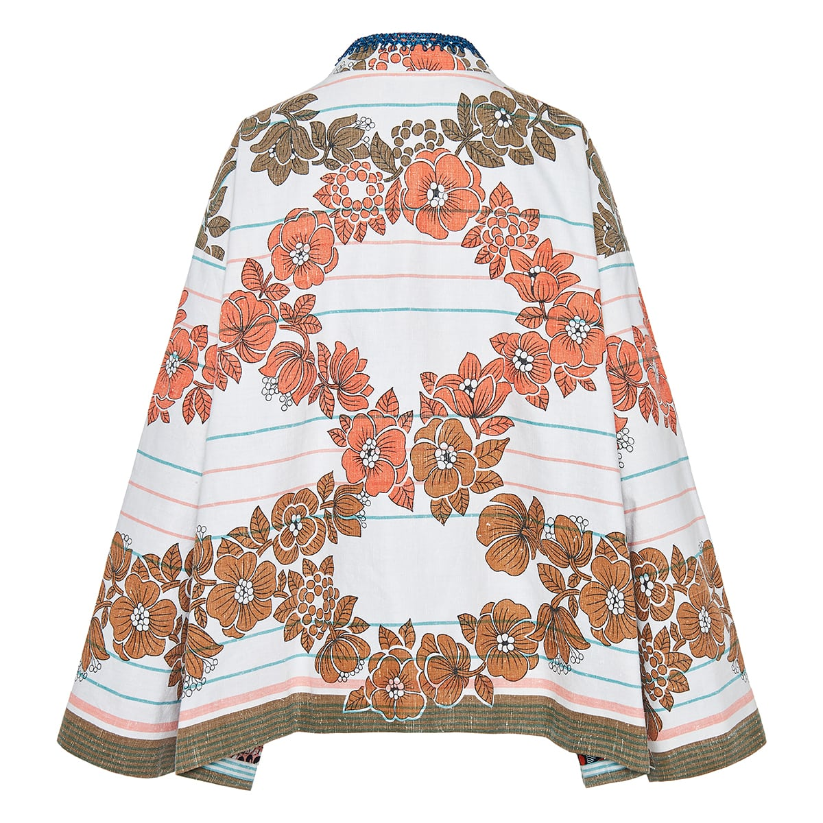One-of-a-kind patchwork printed cotton jacket
