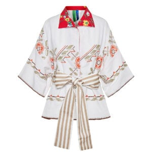Kendima one-of-a-kind patchwork kimono blouse