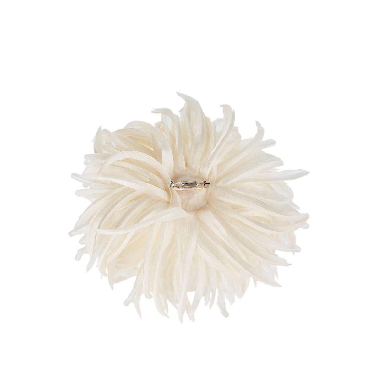 Flower silk brooch