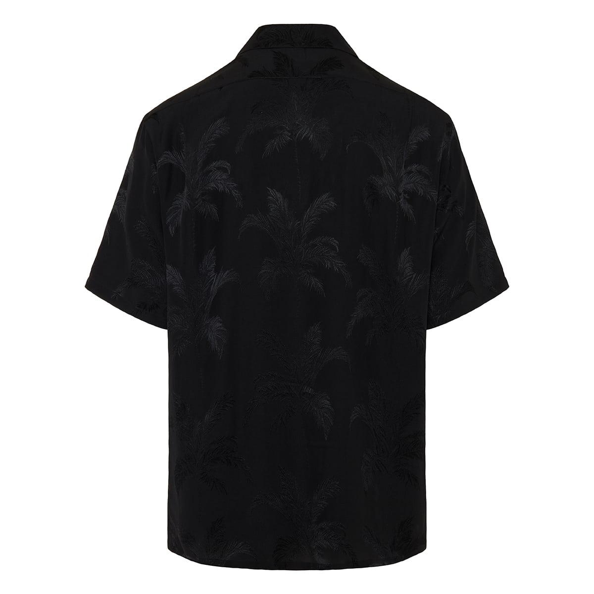 Palm jacquard short-sleeved shirt