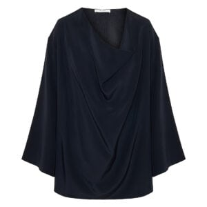 Banat draped silk blouse