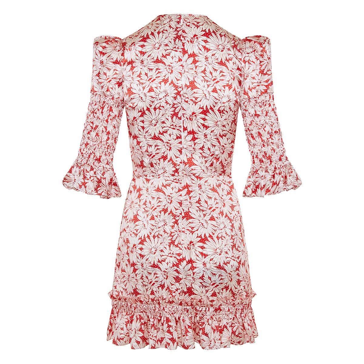 The Gloria floral silk mini dress