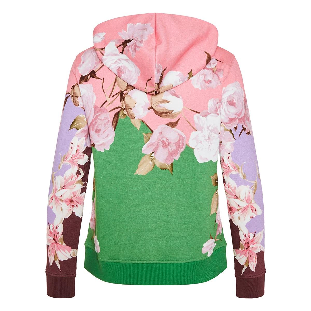 Floral logo zip hoodie