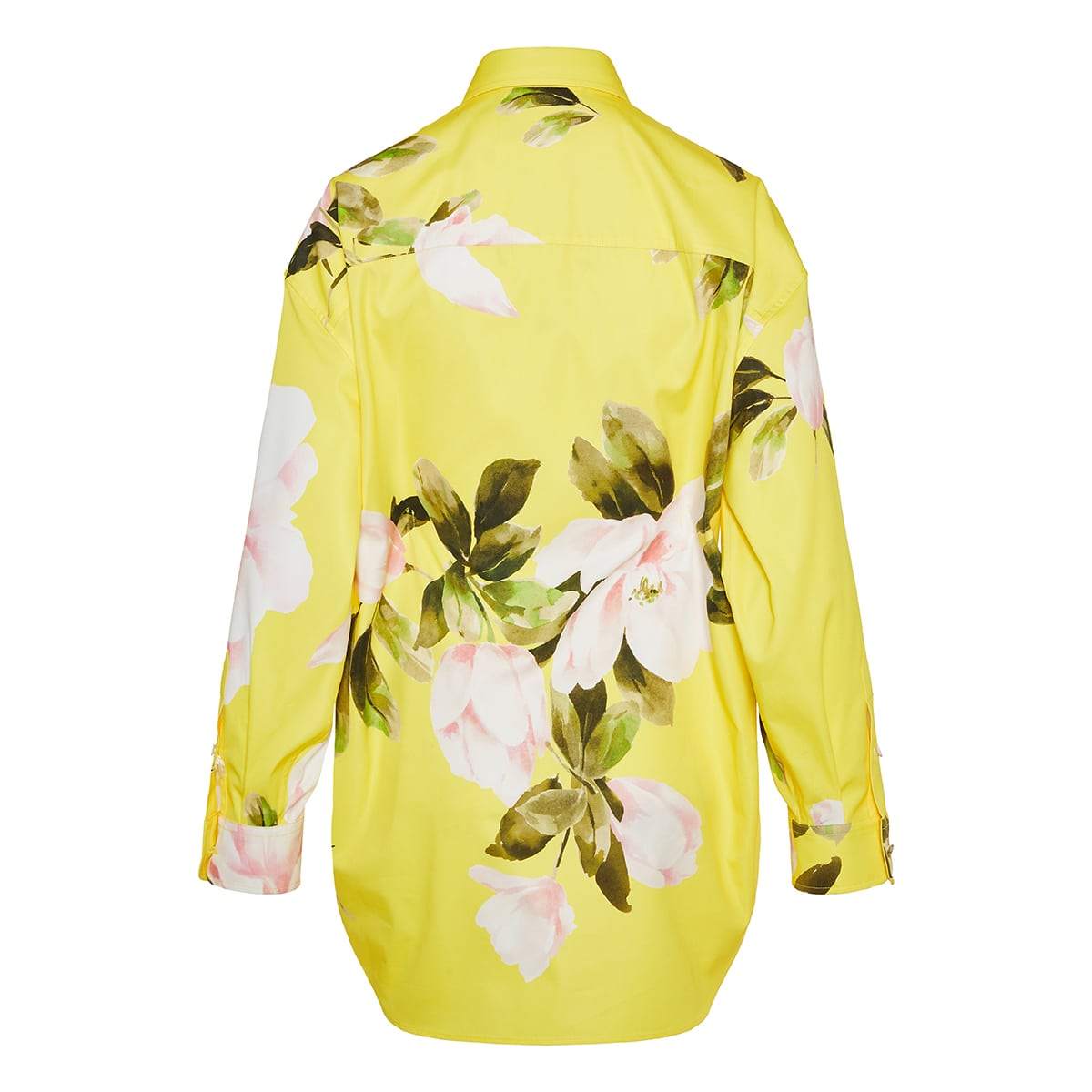 Floral cotton pea coat