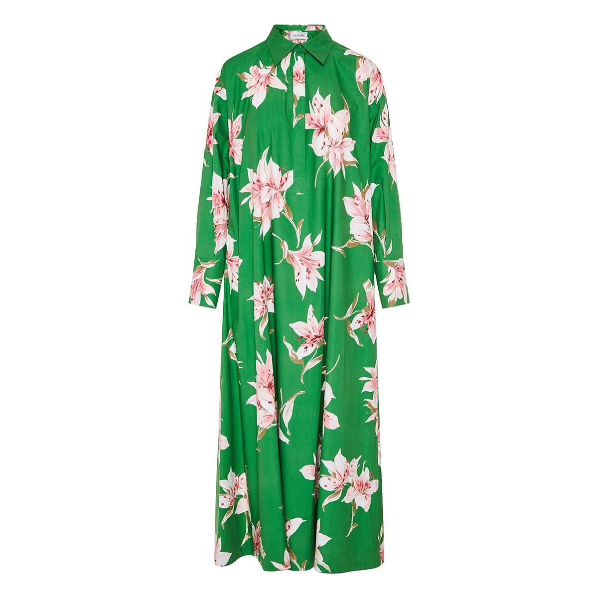 Floral cotton long dress