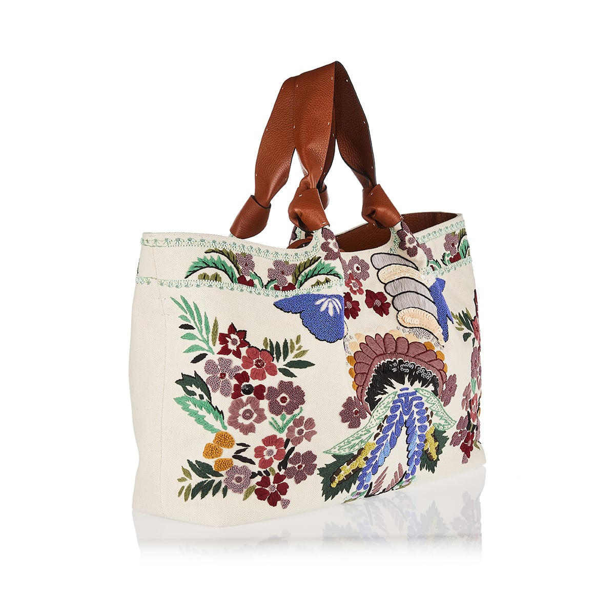 02 Bow Edition Atelier embroidered canvas tote