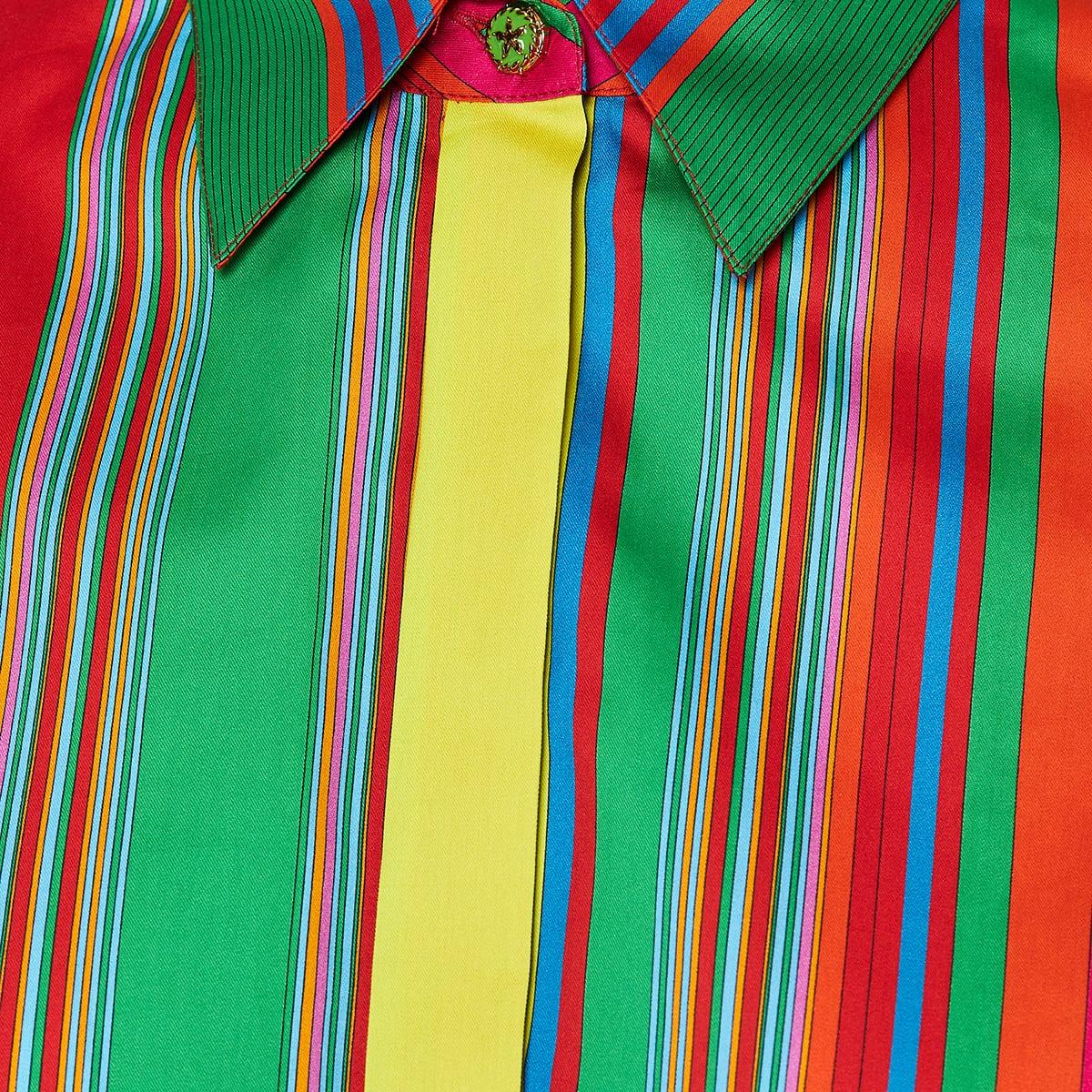 GV striped cropped shirt