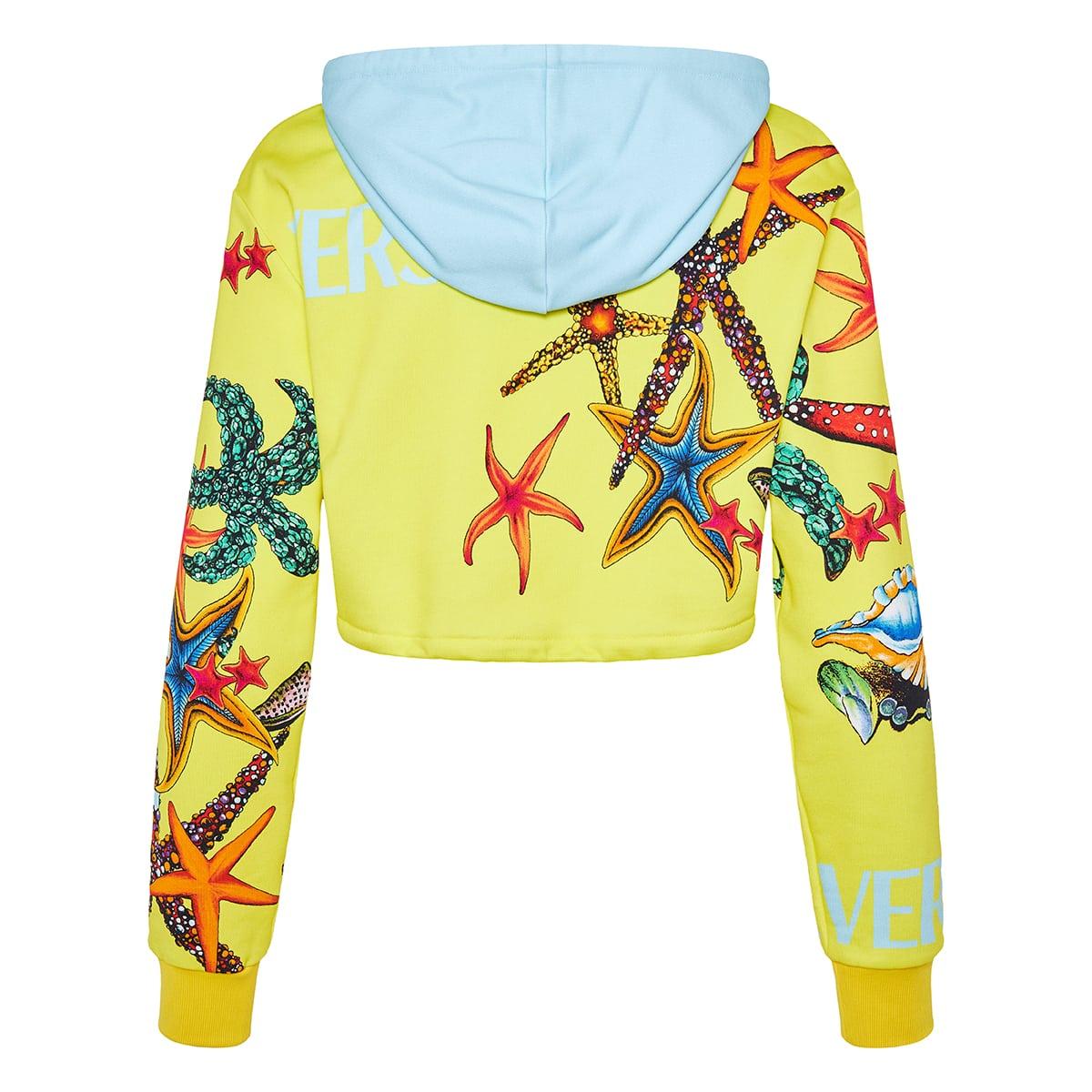 Trésor de la Mer logo cropped hoodie