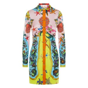 Trésor de la Mer printed mini shirt dress