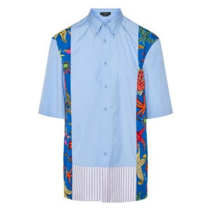Patchwork cotton shirt
