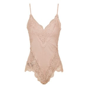Botanica Teddy lace-paneled bodysuit
