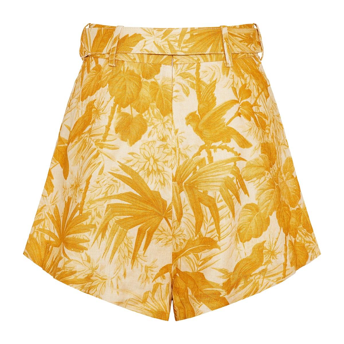 Mae printed linen mini shorts