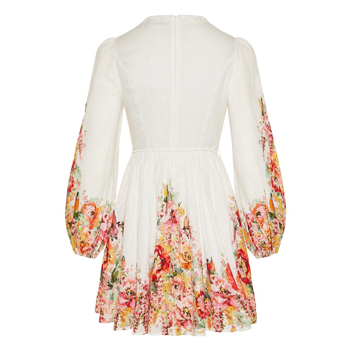 Mae floral linen mini dress