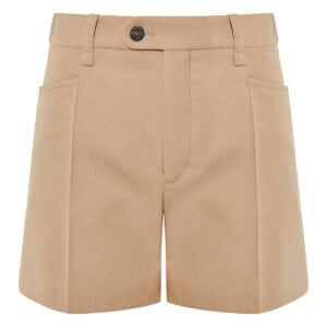 Wool mini shorts