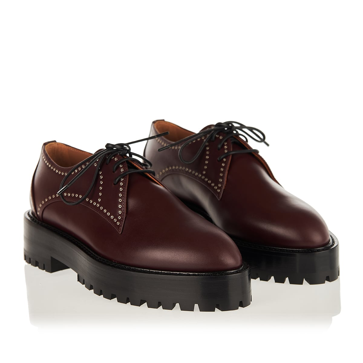 Edition studded leather derby shoes