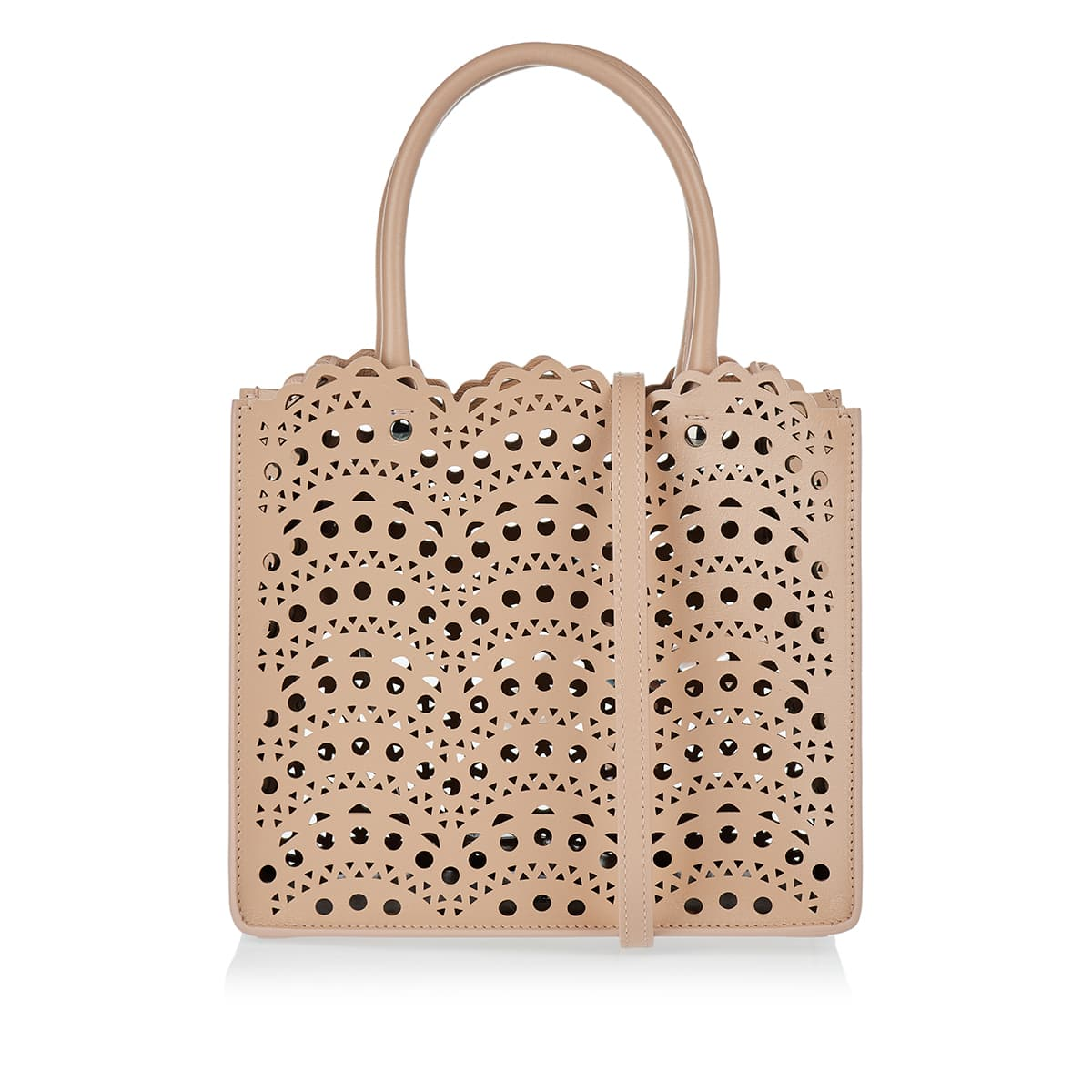 Garance 20 small laser-cut leather tote