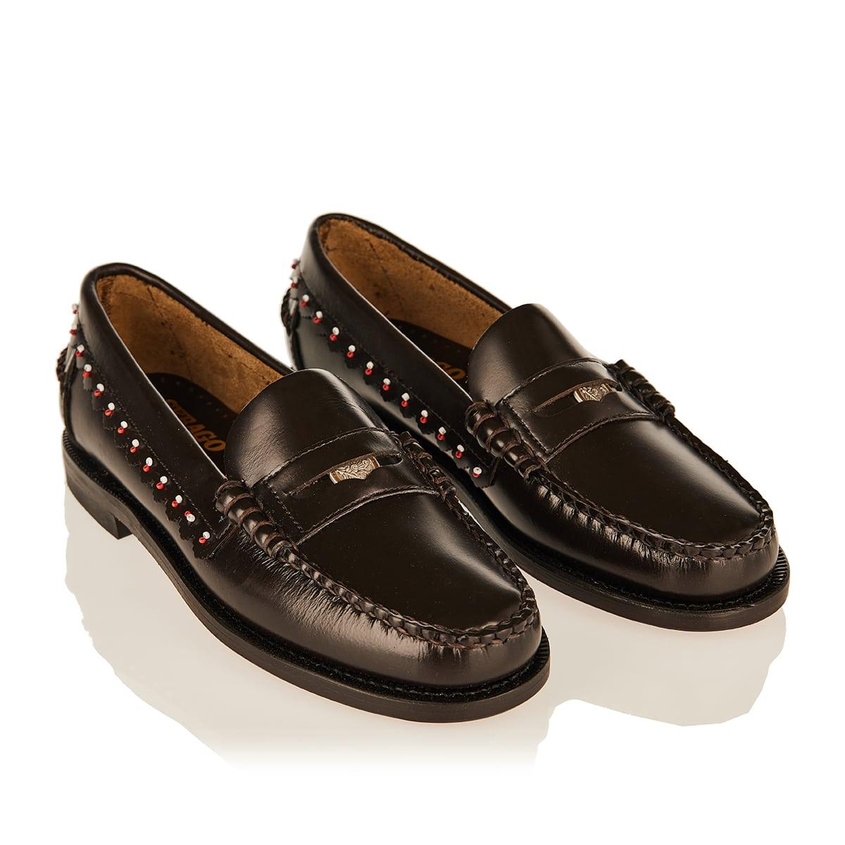 Dan embellished leather loafers
