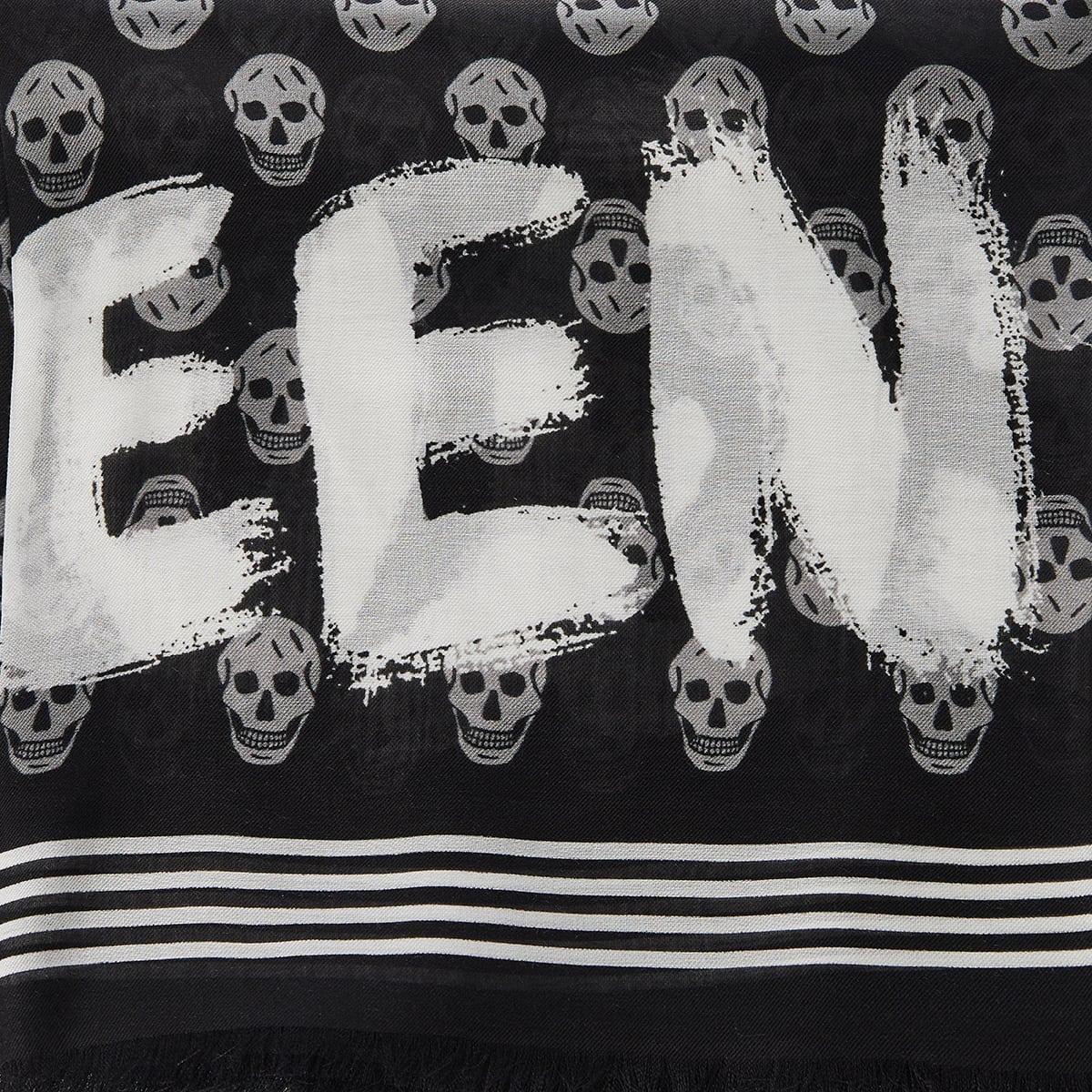 Skull logo scarf