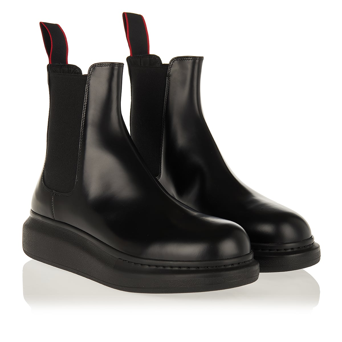 Oversized-sole leather Chelsea boots