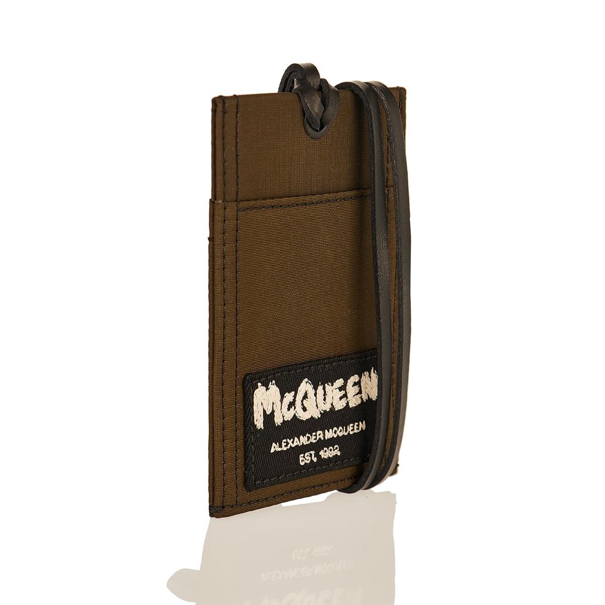 McQueen Tag nylon card case