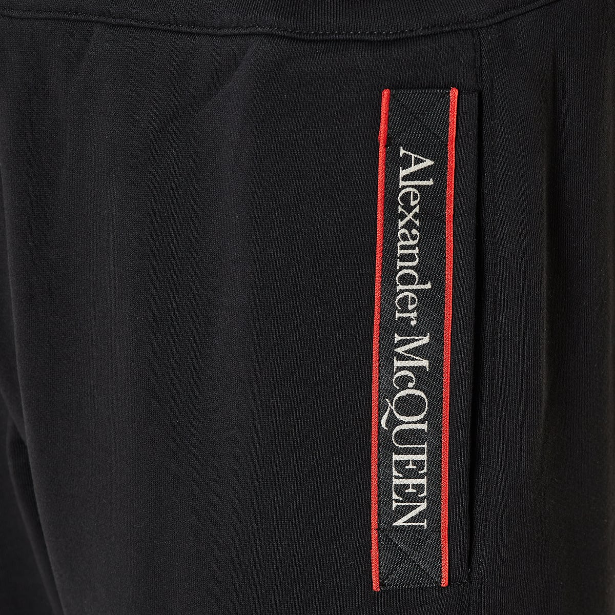Logo tape cotton track trousers