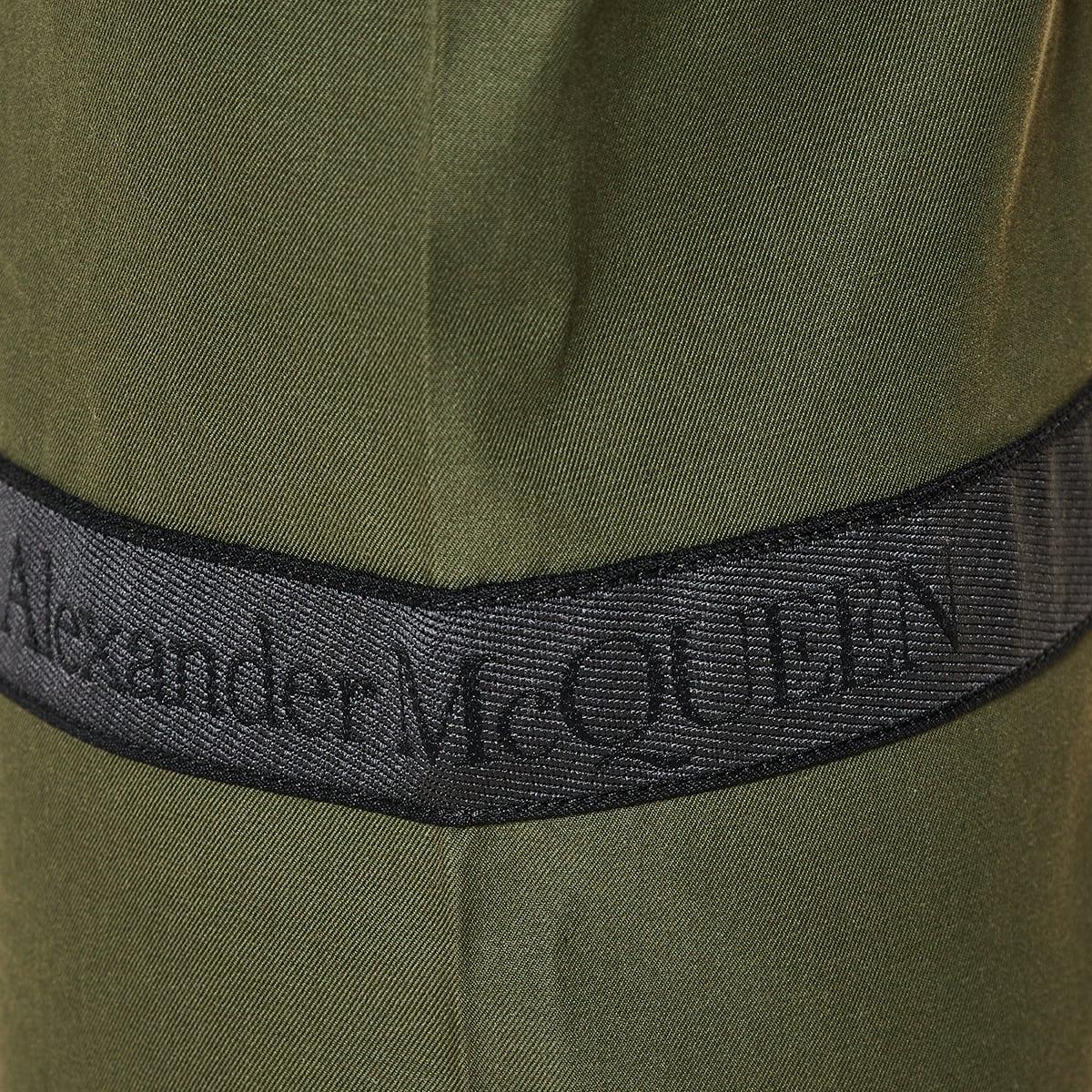 Logo tape cotton trousers