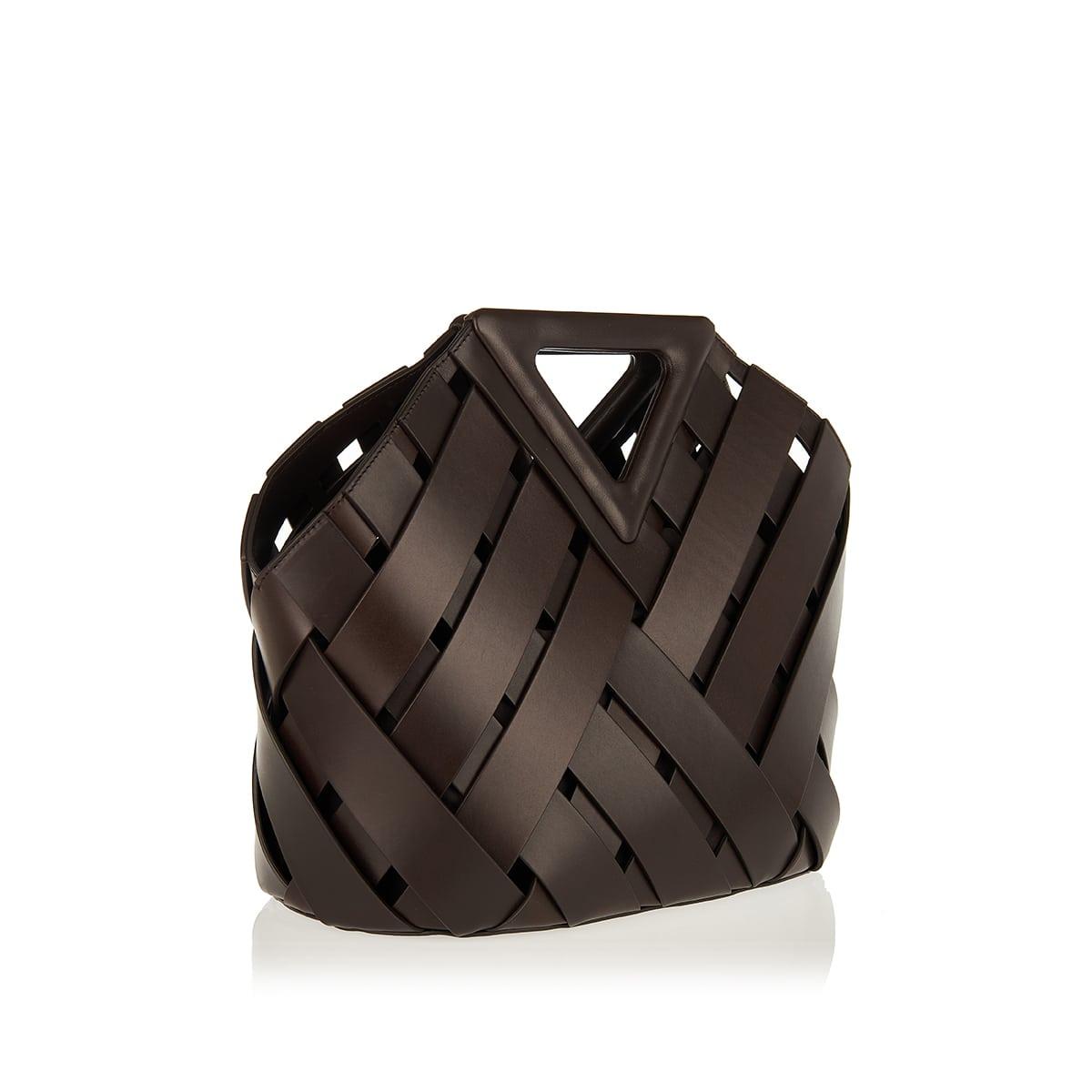 Point Basket leather bag