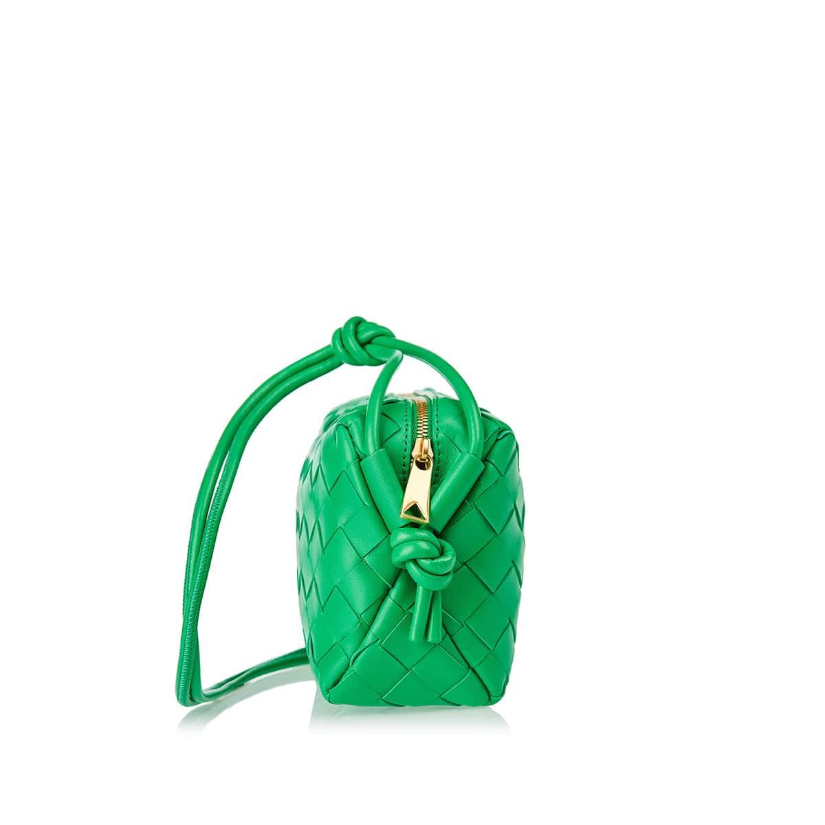 Loop mini Intrecciato leather bag