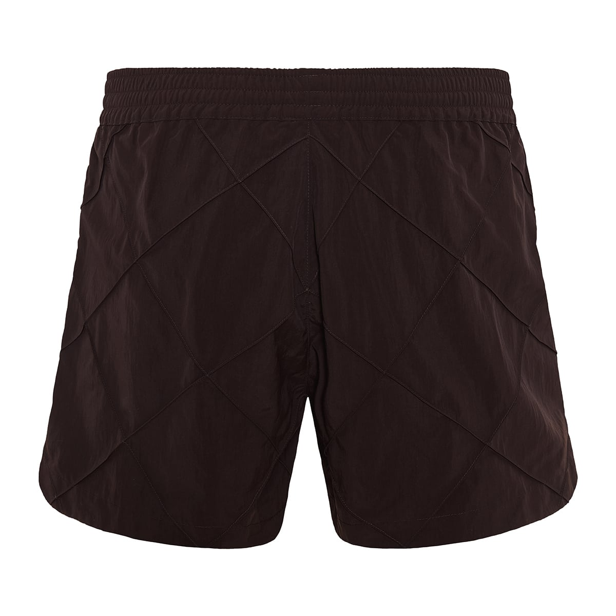 Quilted-effect swim shorts