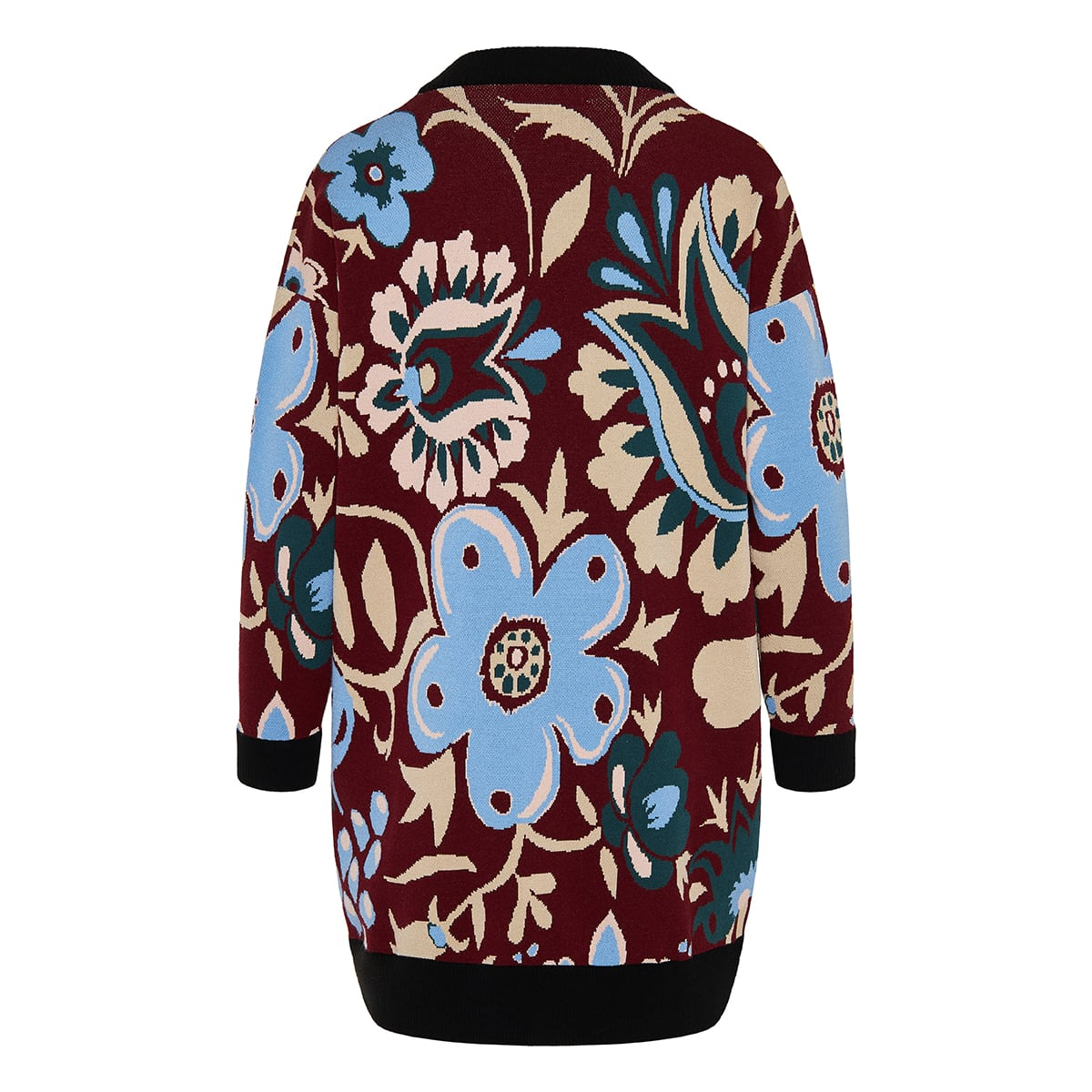 Bowling floral jacquard cardigan